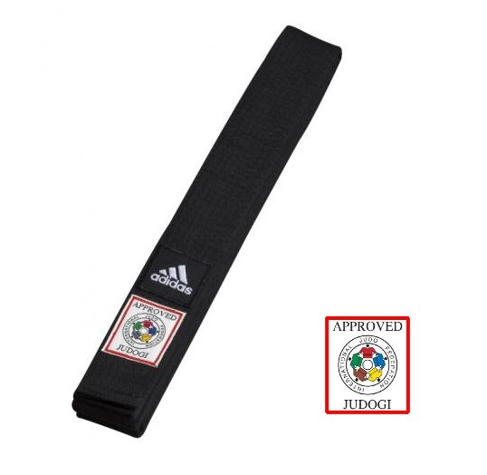 Černý judo pásek Adidas