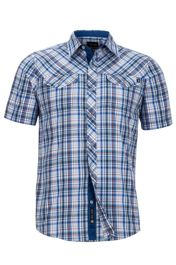 Modrá kostkovaná pánská košile Marmot