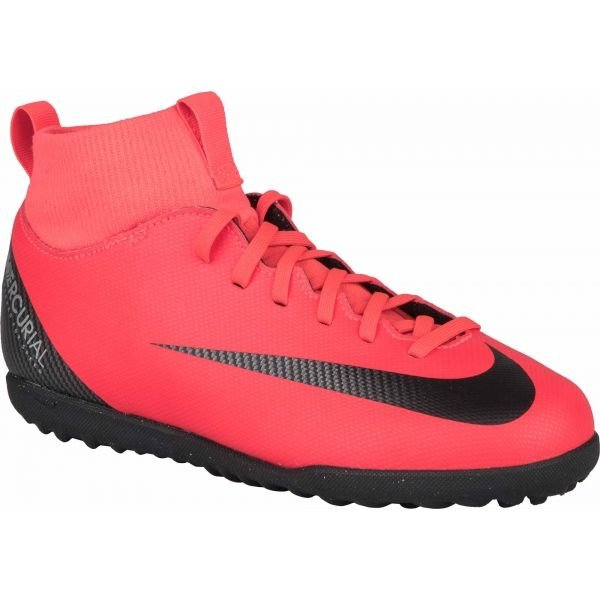 Červené dětské kopačky turfy Nike