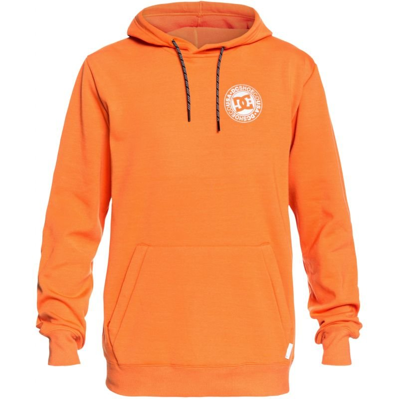 Oranžová pánská mikina s kapucí DC