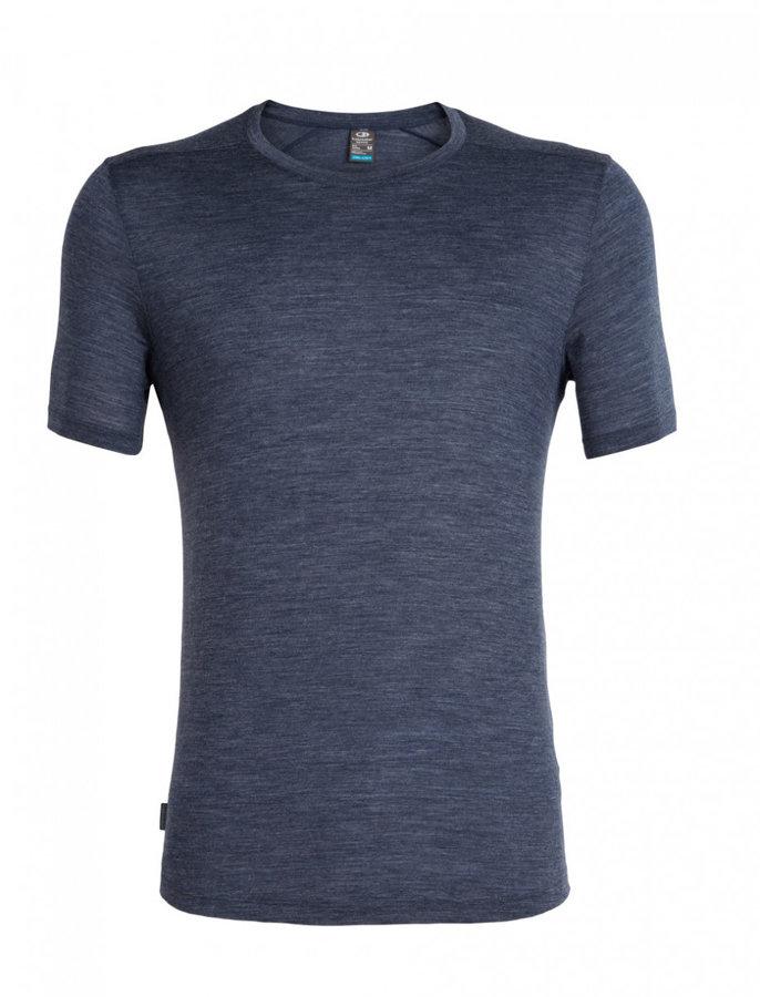 Modré pánské funkční tričko s krátkým rukávem Icebreaker - velikost XL