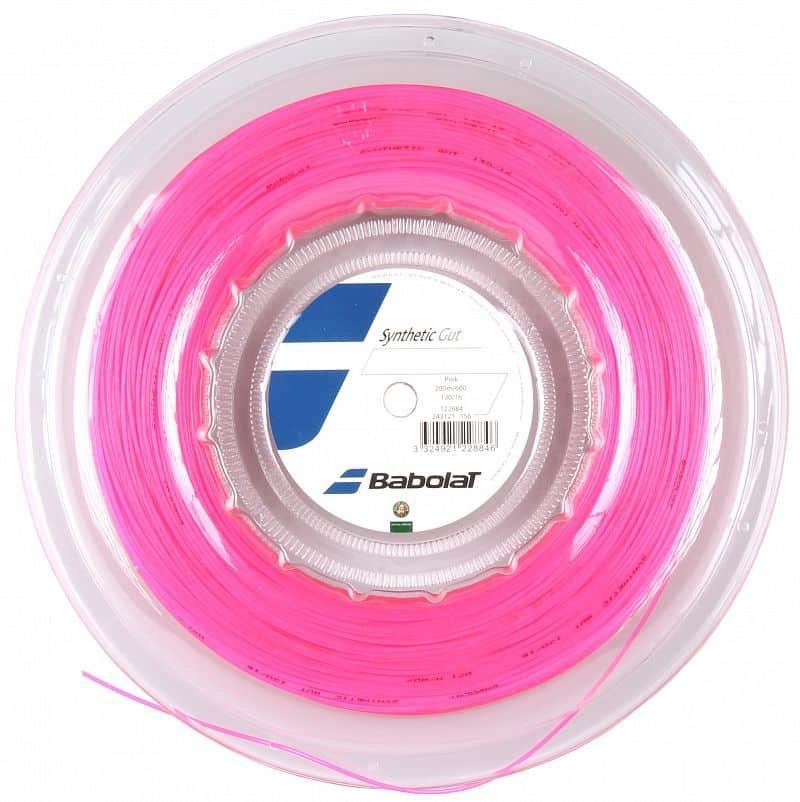 Tenisový výplet - Synthetic Gut tenisový výplet 200 m průměr: 1,35;barva: růžová