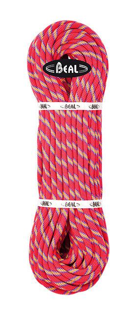 Růžové horolezecké lano Beal - průměr 10 mm a délka 200 m