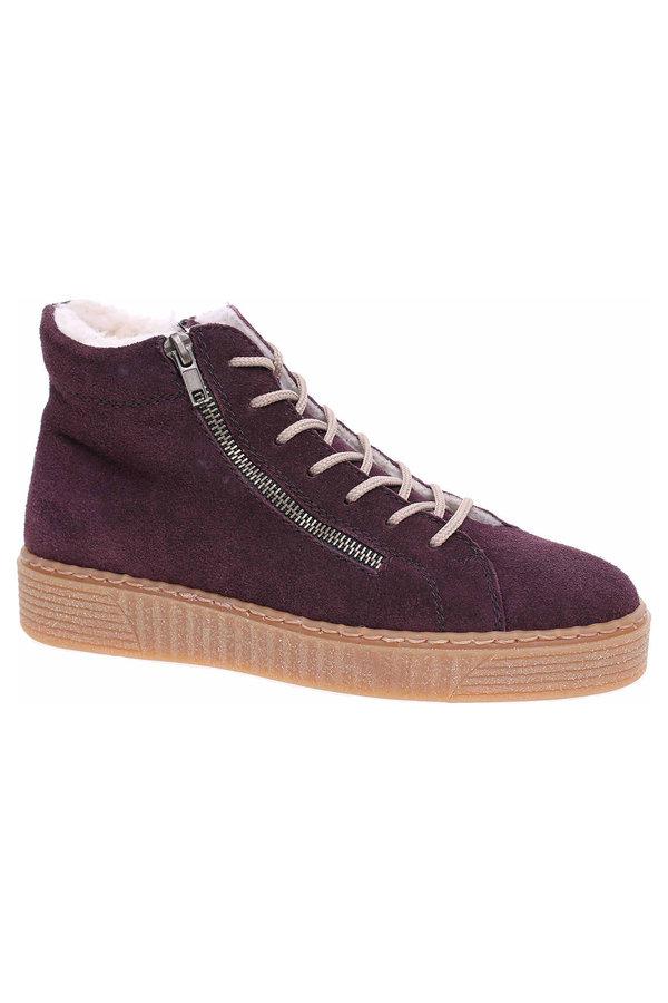 Fialové dámské kotníkové boty Rieker
