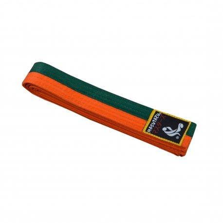 Oranžovo-zelený judo pásek MASUTAZU
