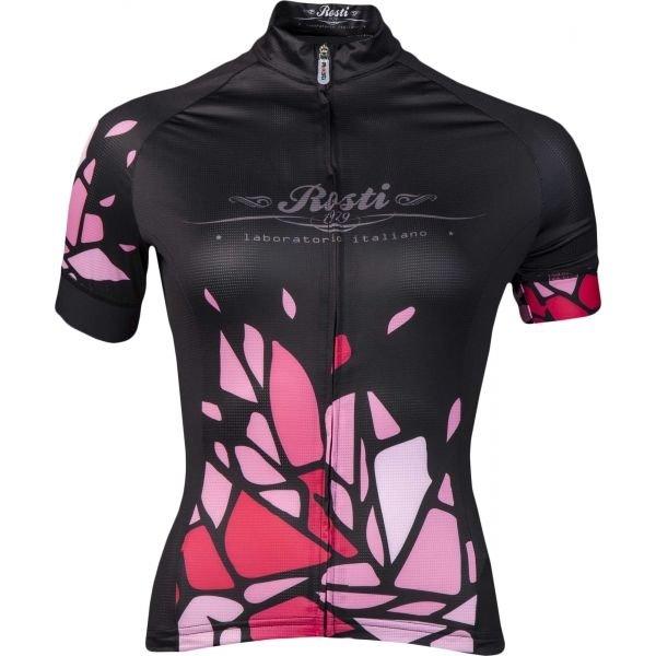 Černo-růžový dámský cyklistický dres Rosti