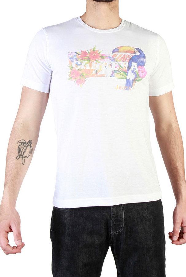 Bílé pánské tričko s krátkým rukávem Carrera Jeans - velikost XXL
