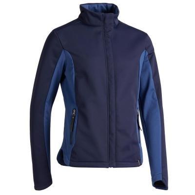 Modrá dětská jezdecká bunda Fouganza