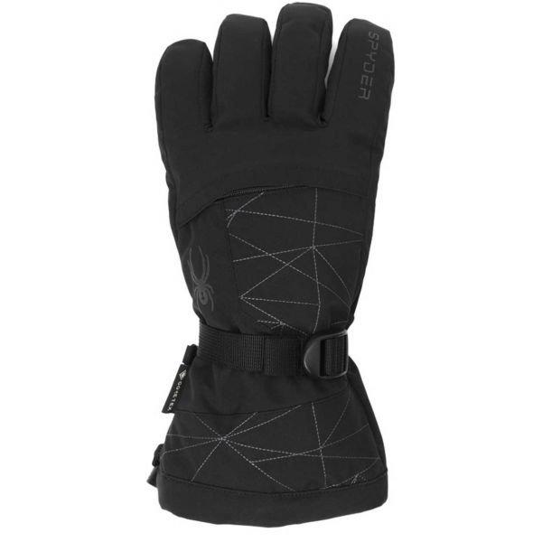 Černé pánské lyžařské rukavice Spyder - velikost L