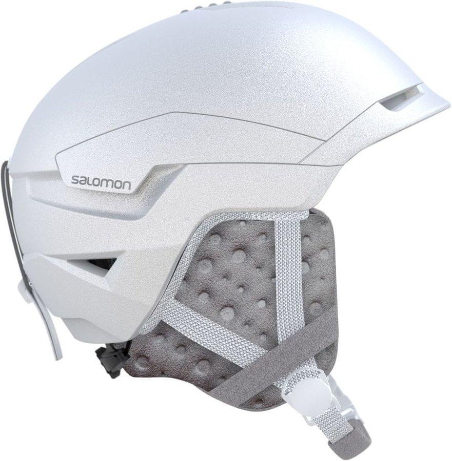 Bílá pánská lyžařská helma Salomon - velikost 56-59 cm