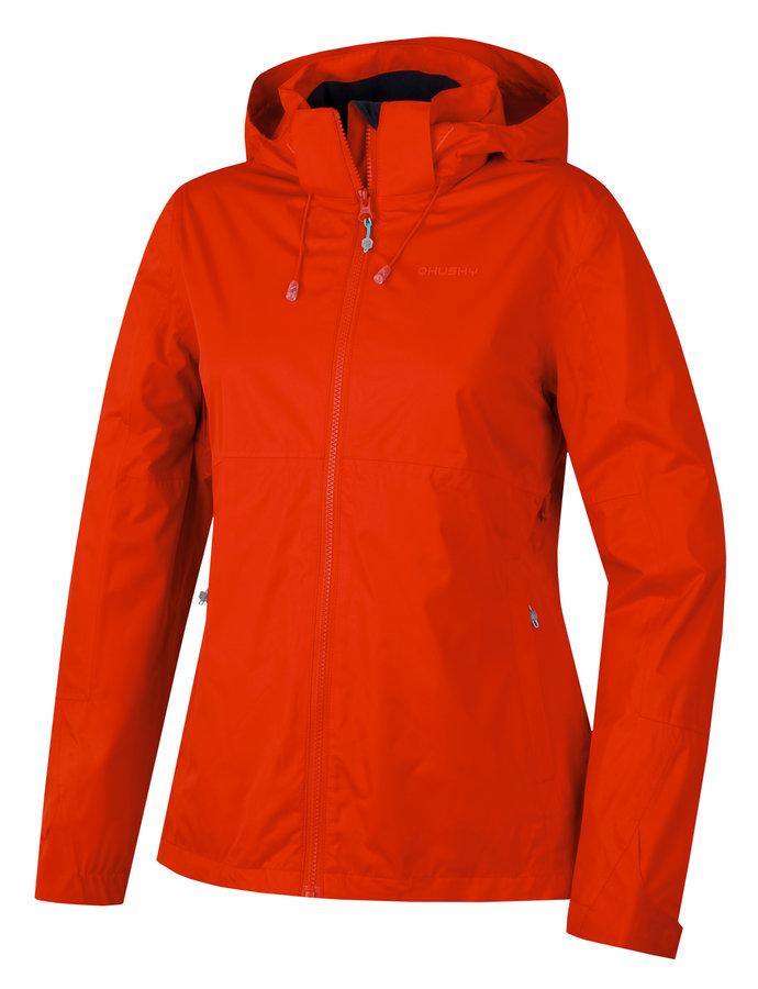 Červená dámská turistická bunda Husky - velikost M