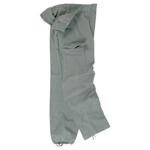 Kalhoty - Kalhoty BW typ moleskin předeprané ZELENÉ