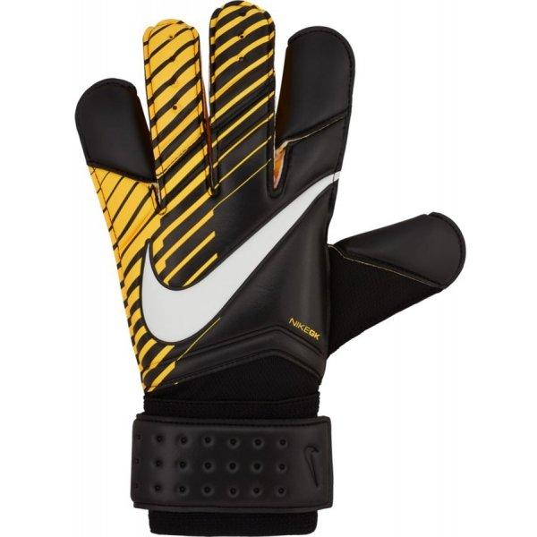 Černo-žluté pánské brankářské fotbalové rukavice Nike