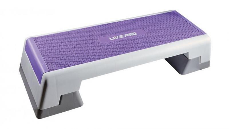 Fialový aerobic step LivePro