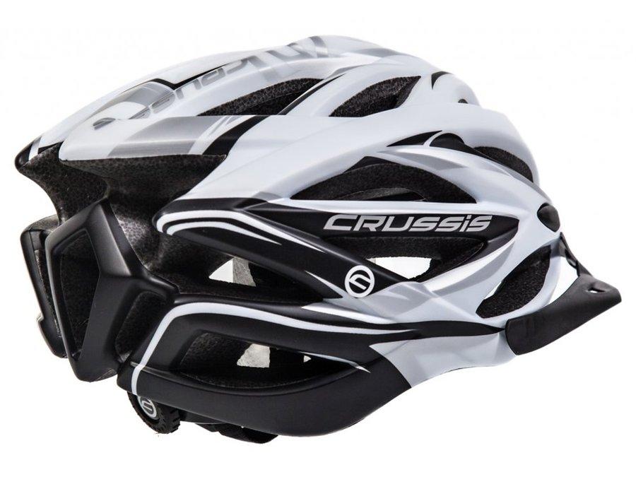 Černá cyklistická helma Crussis - velikost 58-62 cm