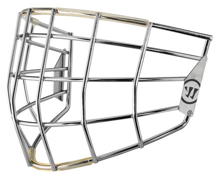 Stříbrná brankářská hokejová mřížka - junior Warrior