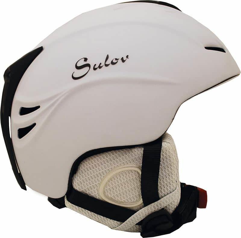 Lyžařská helma - Lyžařská přilba SULOV SHINE In-mold, bílá lesk Helma velikost: L