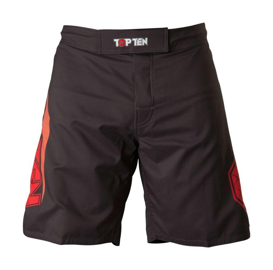 Černo-červené MMA kraťasy Top Ten - velikost S