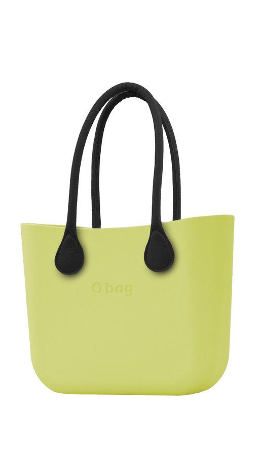 Kabelka - O bag zelené kabelka Lime s černými dlouhými koženkovými držadly