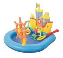 Nadzemní nafukovací dětský oválný bazén Bestway - délka 140 cm, šířka 130 cm a výška 104 cm