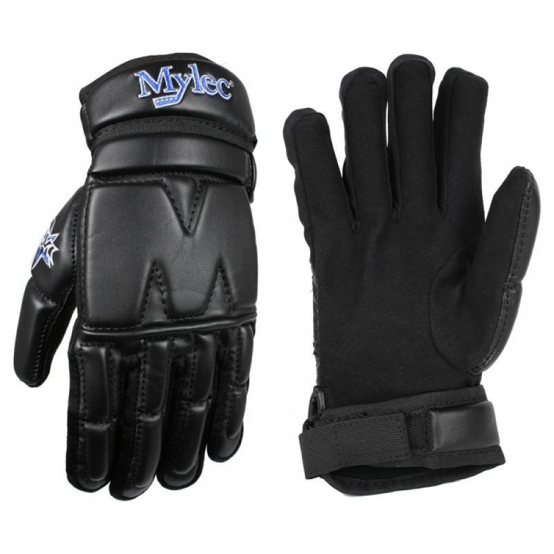 Černé hokejbalové rukavice Mylec - velikost L