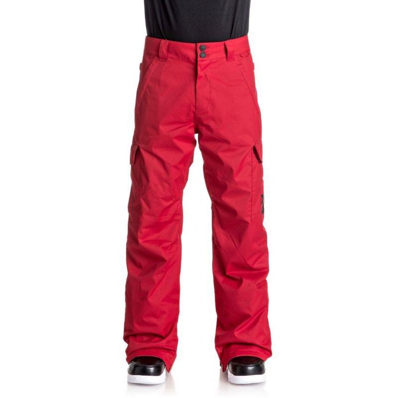 Červené pánské snowboardové kalhoty DC - velikost S