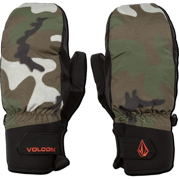 Zelené pánské zimní rukavice Volcom - velikost M