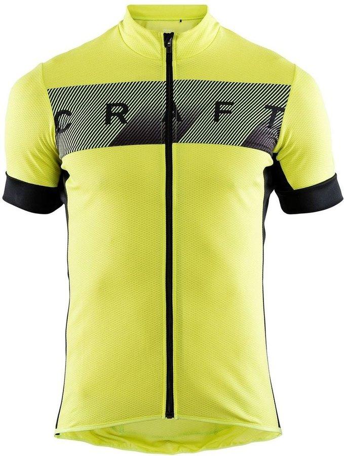 Žlutý pánský cyklistický dres Craft - velikost S