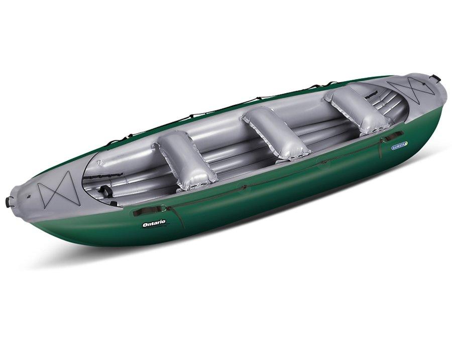 Zelený nafukovací raft s nafukovacím dnem pro 6 osob Ontario, Gumotex
