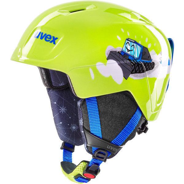 Žlutá chlapecká lyžařská helma Uvex - velikost 46-50 cm