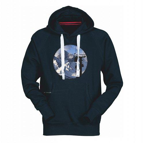 Modrá pánská lyžařská mikina s kapucí Sportinator