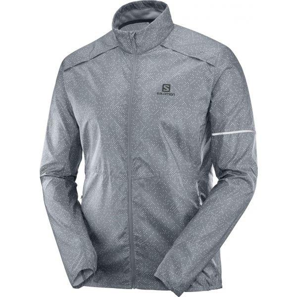 Šedá pánská běžecká bunda Salomon - velikost XL