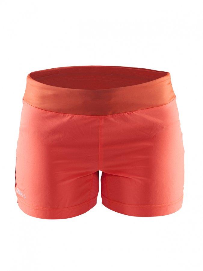Oranžové dámské turistické kraťasy Craft