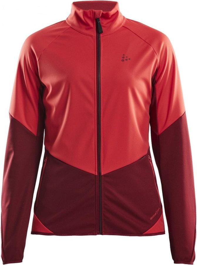 Červená dámská bunda na běžky Craft