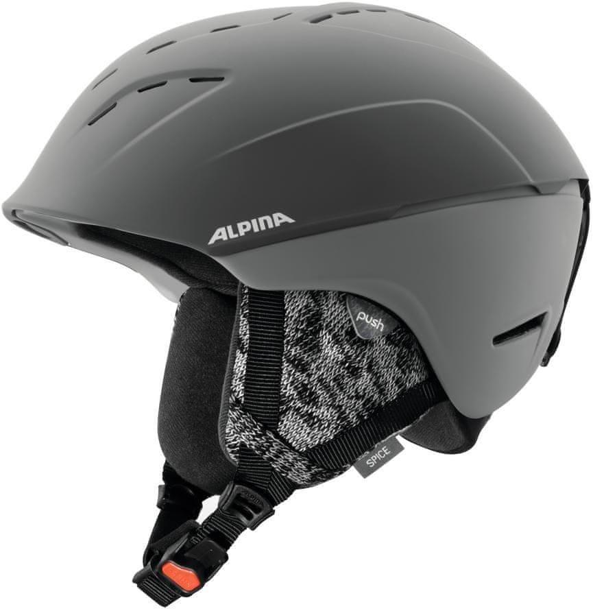Šedá dámská lyžařská helma Alpina Sports