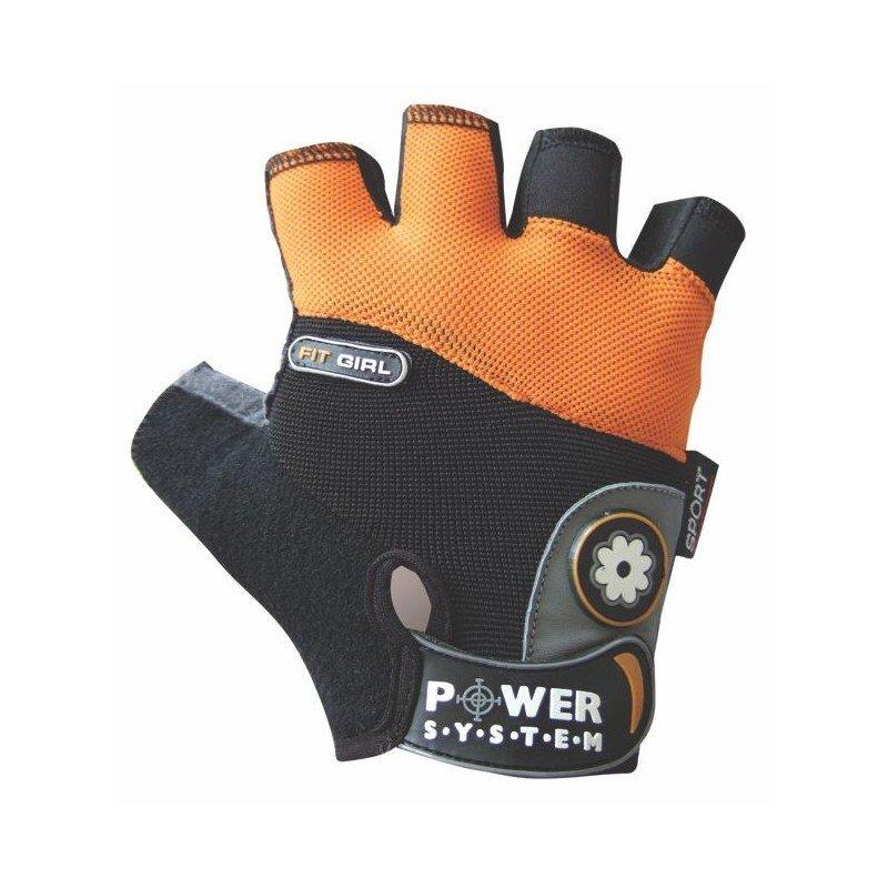 Oranžové dámské fitness rukavice Power System - velikost XS