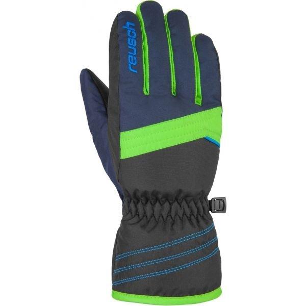 Modro-zelené dětské lyžařské rukavice Reusch