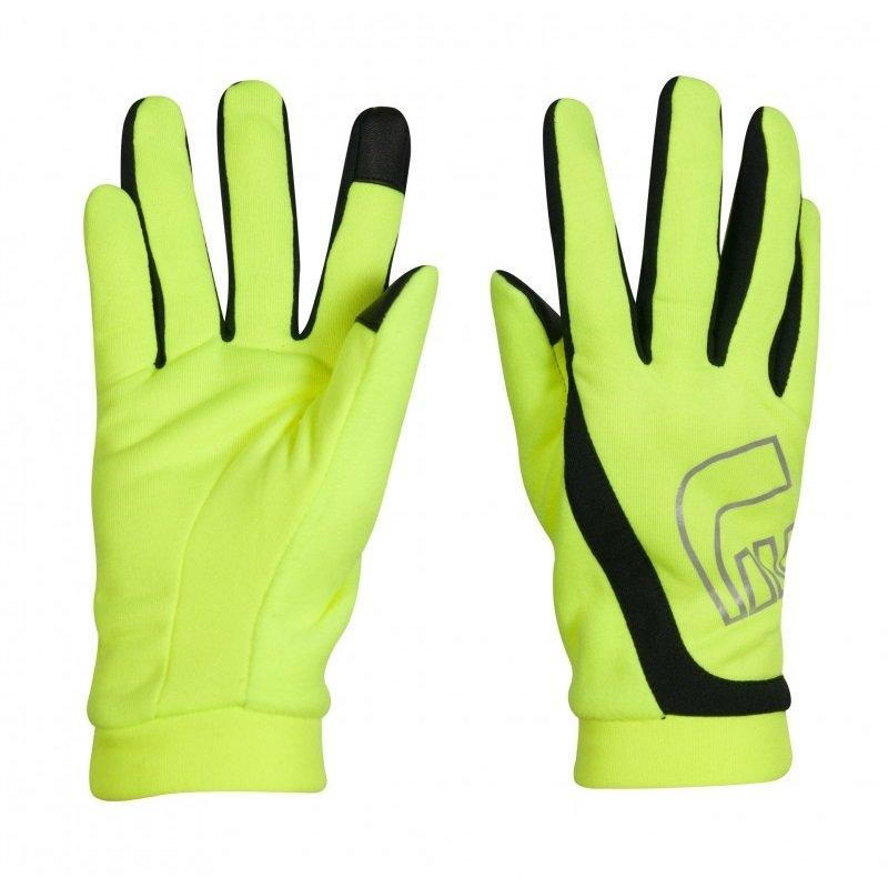 Žluté zimní pánské nebo dámské běžecké rukavice Thermal Gloves Visio, Newline