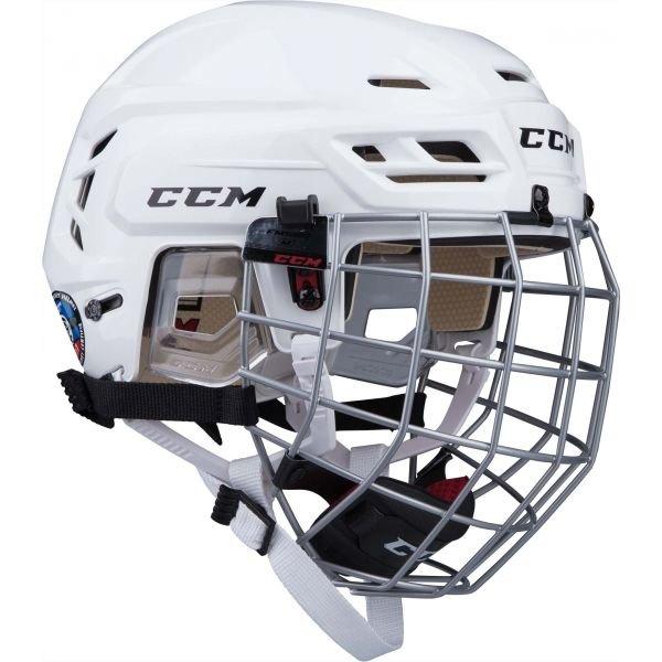 Bílá hokejová helma CCM - velikost XS