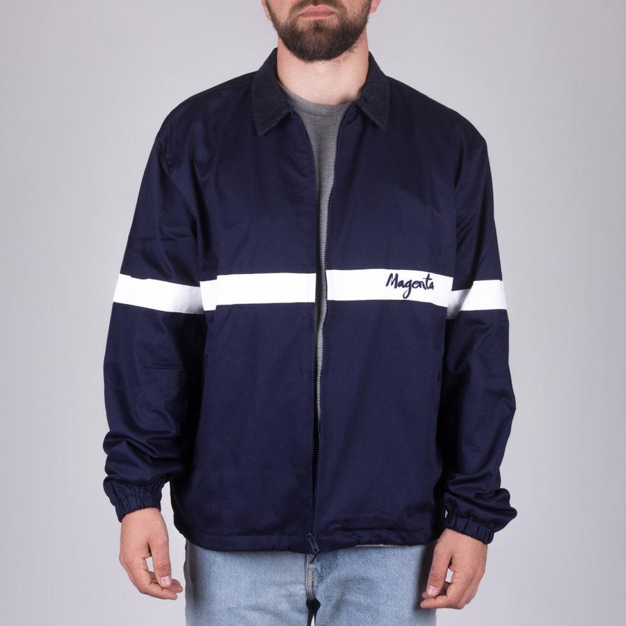 Bílo-modrá pánská bunda Magenta