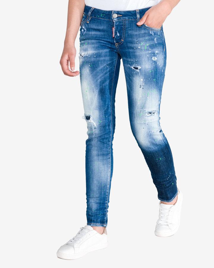 Modré dámské džíny DSQUARED2 - velikost 42