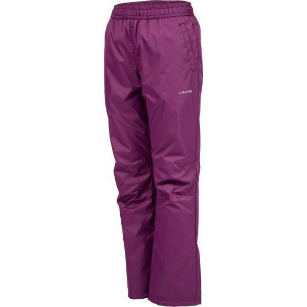 Fialové dětské lyžařské kalhoty Lewro