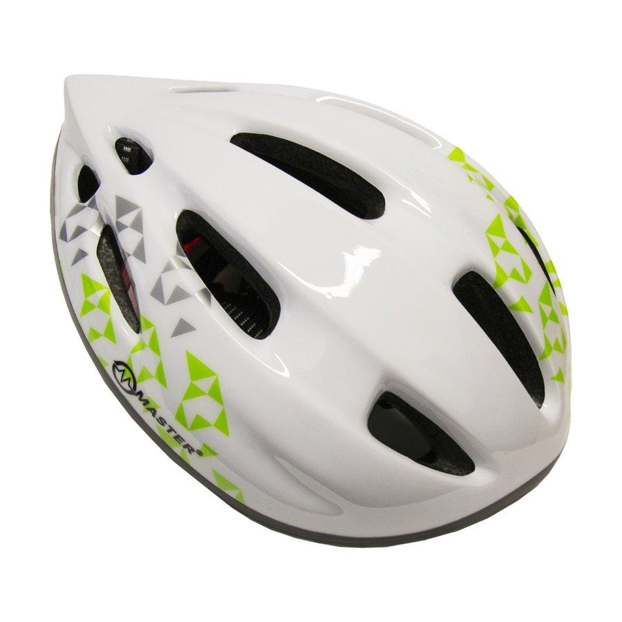 Bílá dětská cyklistická helma Master - velikost 51-56 cm