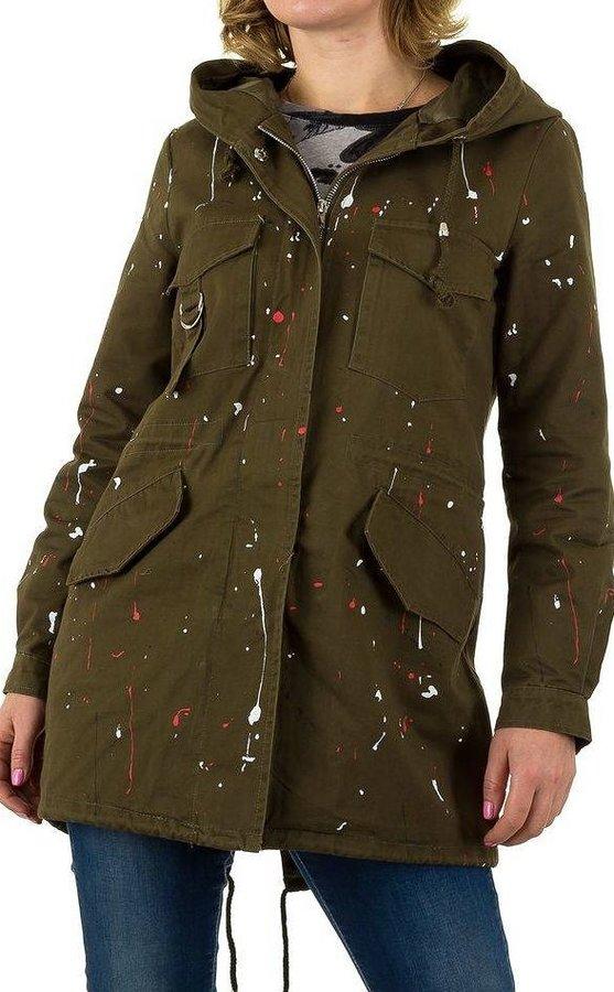 Zelená dámská bunda Shk Paris - velikost S