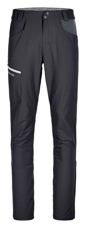 Černé softshellové pánské turistické kalhoty Ortovox