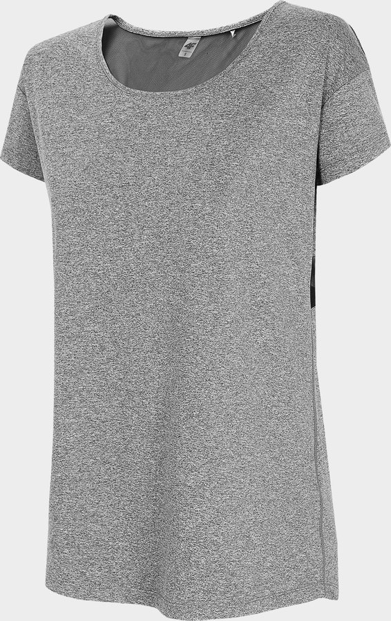 Šedé dámské funkční tričko s krátkým rukávem 4F