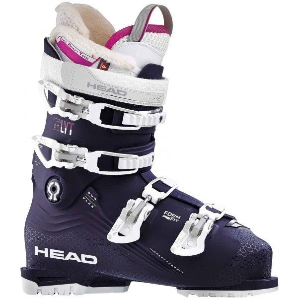 Černo-fialové dámské lyžařské boty Head - velikost vnitřní stélky 27 cm