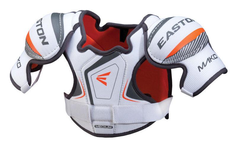 Bílý hokejový chránič ramen - youth Easton - velikost L