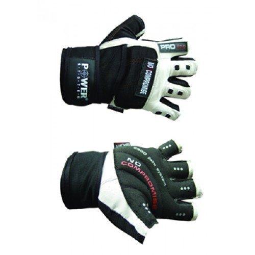 Bílo-černé fitness rukavice Power System