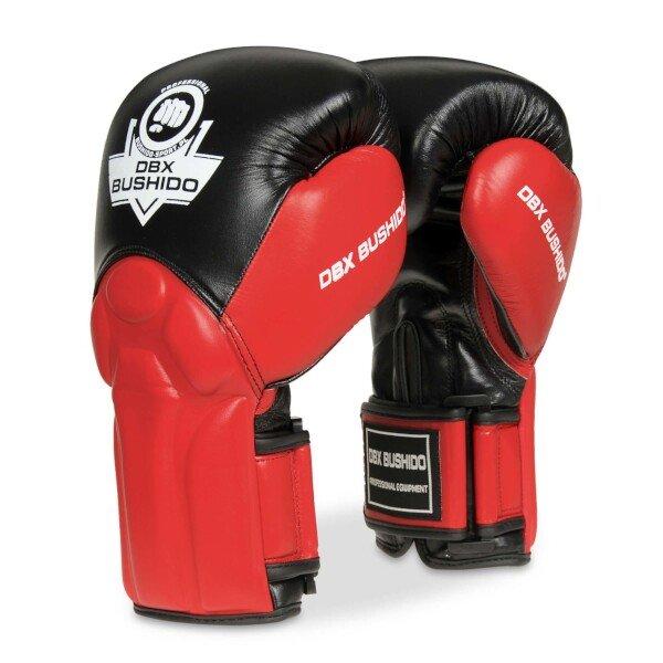 Černo-červené boxerské rukavice Bushido